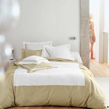 Parure de lit satin de coton Blanc des Vosges