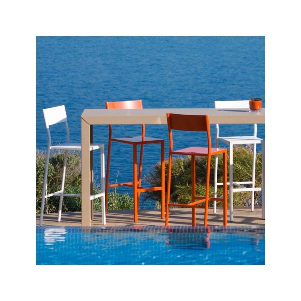 chaise bar mati re grise. Black Bedroom Furniture Sets. Home Design Ideas