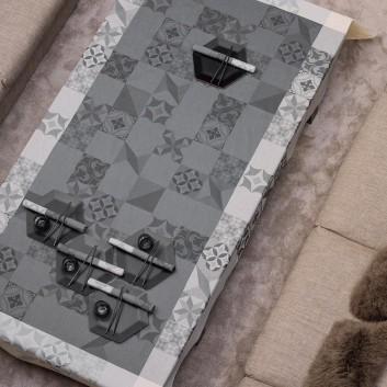 Nappe coton Demeure en ville Ciment