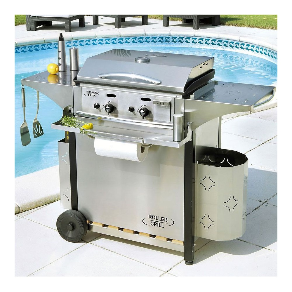 Barbecue Gaz Et Plancha roller grill gas plancha collection 600g inox