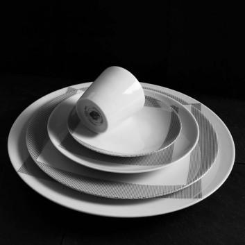 Assiette Porcelaine Non sans Raison
